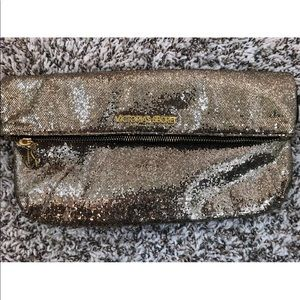 Victoria's Secret Gold Bling Sequin Clutch Bag
